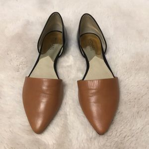 Michael Kors Leather Flats with Pointed Toe Size 9